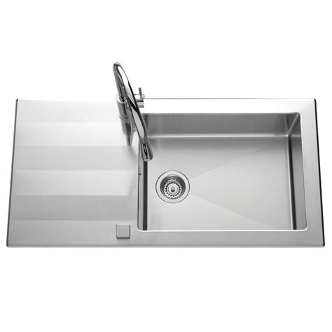Grand Evier Inox by 201 Vier Inox Lisse Dubis 1 Grande Cuve Avec 233 Gouttoir