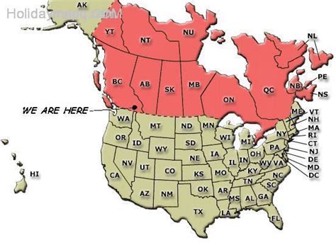 map of canada and us canada and usa map holidaymapq