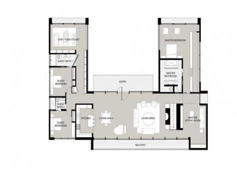 house shape u shaped one story house u shaped house plans garden home floor plans mexzhouse com