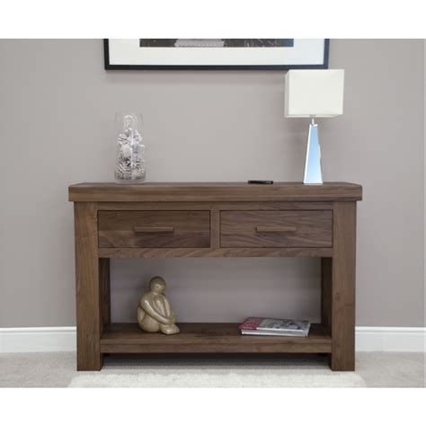 Hallway Console Table Kendo Solid Modern Walnut Furniture Hallway Console Table Ebay