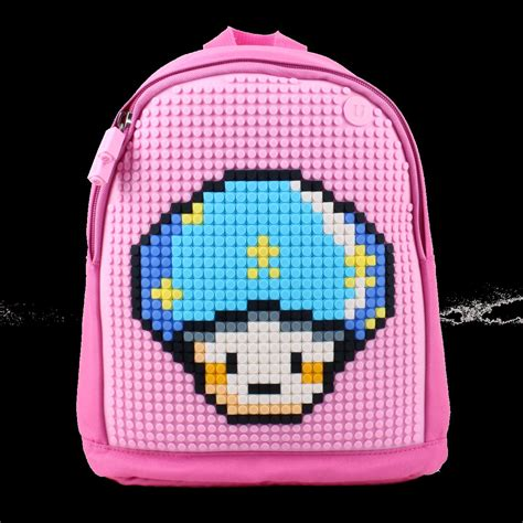 Mikado Tenta Pixel Foldable Shopping Bag Pink upixel pixel backpack pink wallets brands