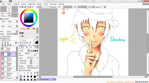 tutorial how to color skin paint tool sai hd