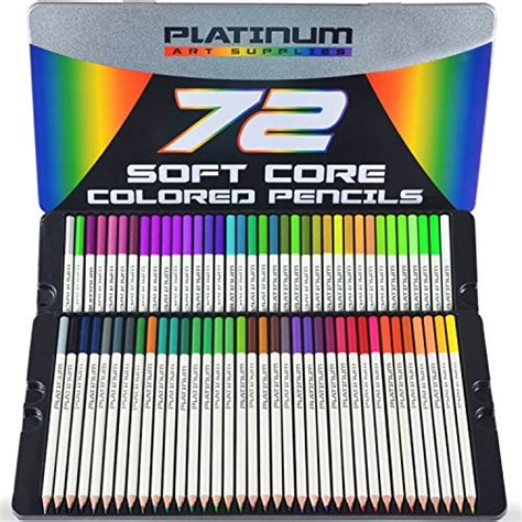 soft green premier artist encaustic wax beeswax paints platinum soft core colored pencils with tin case pack of