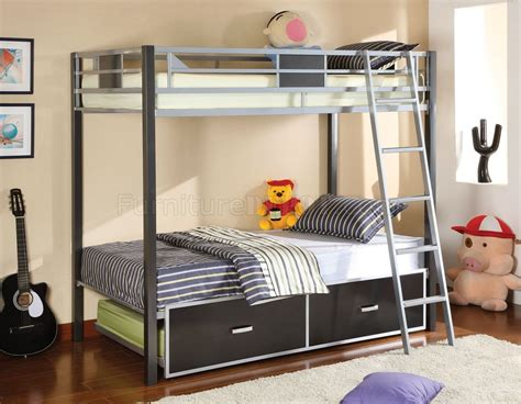 Bunk Bed With Trundle And Drawers Cm Bk1011 Cletis Bunk Bed W Optional Trundle Drawers