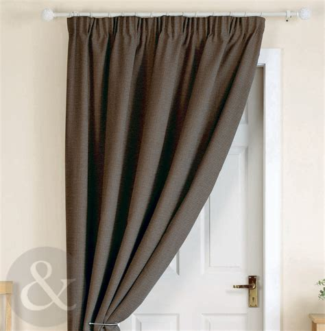 Thick Thermal Curtains Thick Heavy Door Curtains Ready Made Thermal Lined 66 X 84 Door Curtain Panel Ebay