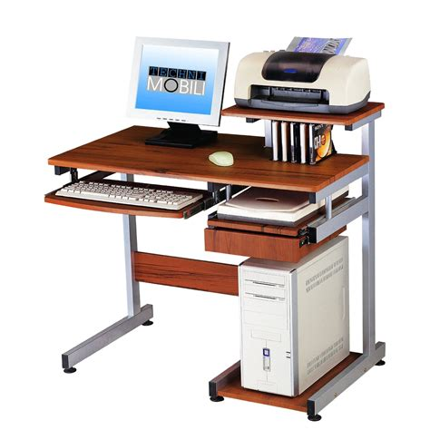 small computer workstation desk wooden computer desk complete with for keyboard and