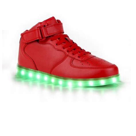 led light up shoes for adults men s high cut red led light up shoes adults never mediocre