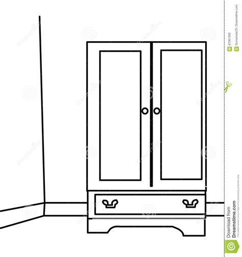 Cabinet Page cabinet coloring page stock illustration image 87361393