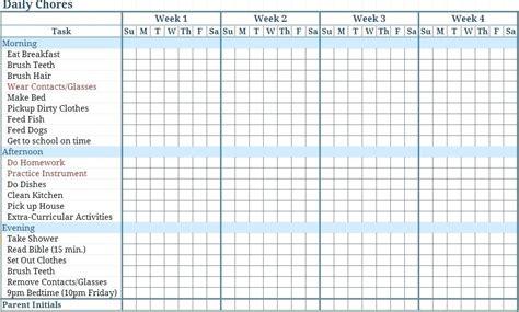 Chore Calendar Template Printable Chore Chart Chore Chart Template Free Noshot Info Couples Chore Chart Template