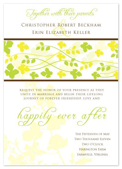 wedding invitations lemon lime at minted - Lemon And Lime Themed Wedding Invitations