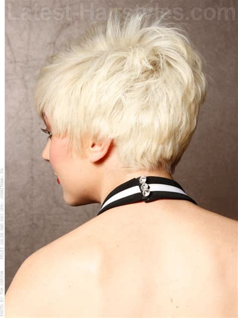 back view short spikey hair style for women pinterest super short spiky pixie hair
