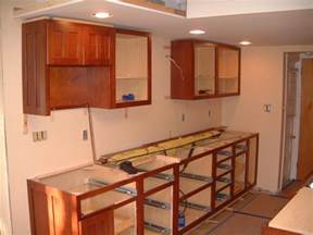 How To Install A Kitchen Cabinet On The Wall Springfield Kitchen Cabinet Install Remodeling Designs