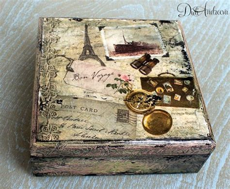 Decoupage Jewellery - wooden jewelry box gift decoupage box shabby by