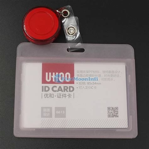 Id Card Jepit Yoyo reel retractable yoyo id card credit badge holder horizontal vertical ebay