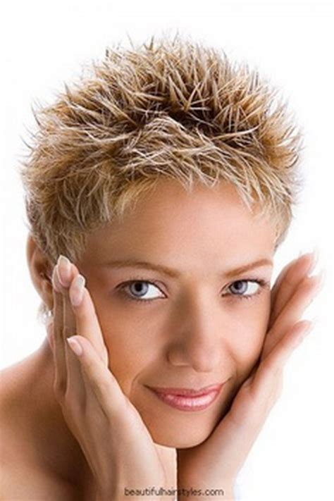 short spiky haircuts for round face women womens short short spikey hairstyles for women over 50