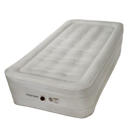 insta bed 14 quot air mattress with external ac and neverflat fabric walmart