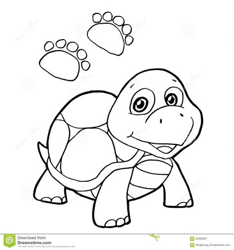 coloring pages vector paw print with turtle coloring pages vector stock vector