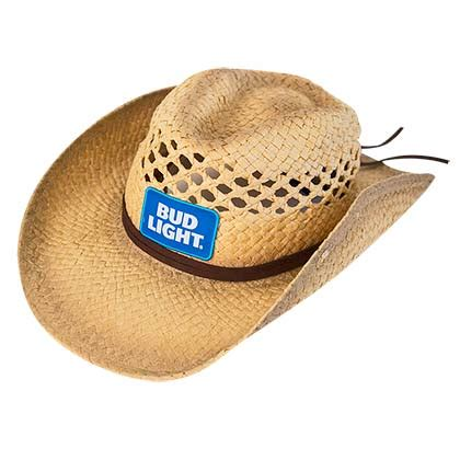 logo on cowboy hat bud light merchandise