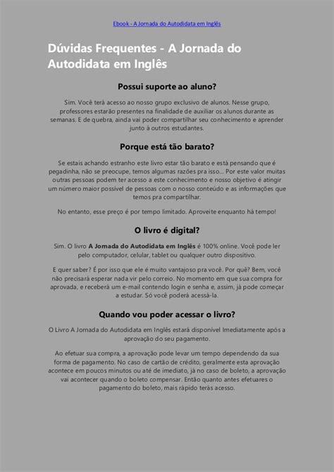 A Jornada do Autodidata em Inglês - BAIXAR PDF