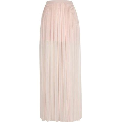 light pink pleated skirt river island light pink pleated thigh maxi skirt