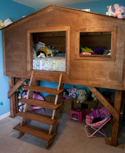 Treehouse Bunk Bed Plans 35 Free Diy Bunk Bed Plans To Save Your Bedroom Space