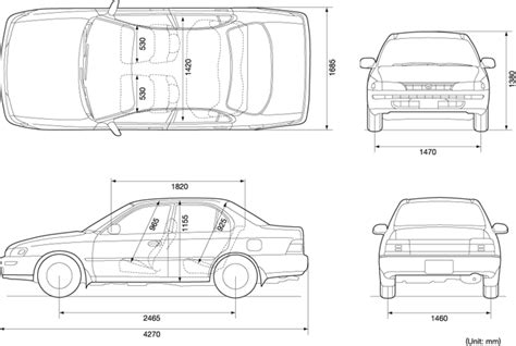 Toyota Size Sedan Index Of Var Albums Blueprints Car Blueprints Toyota