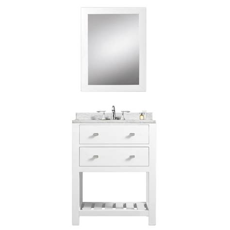24 Bathroom Vanity And Sink 24 Inch Single Sink Bathroom Vanity With Carerra White Marble Uvwcmadalyn24w