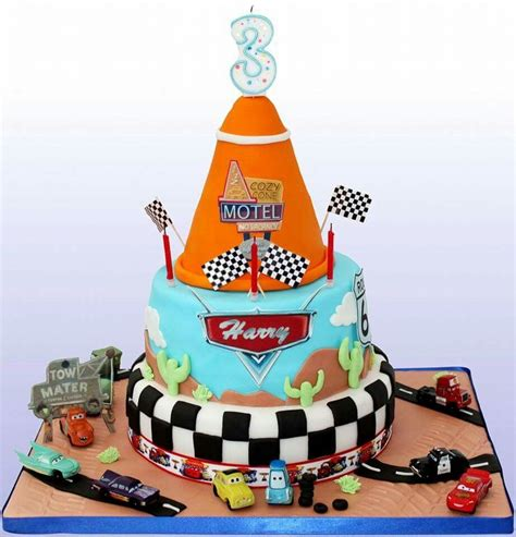 Disney Pixar Cars Baby Shower Decorations by Pixar Cars Themed Cake For My Sons 3rd Birthday Mad On