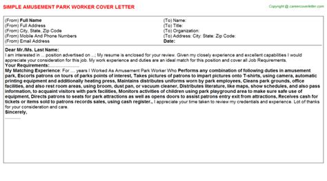 Seasonal Cover Letter by Seasonal City Park Worker Cover Letters
