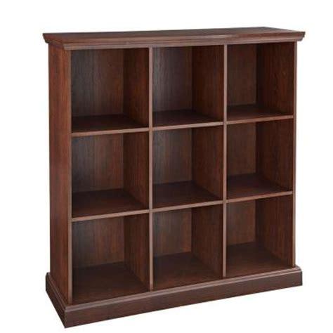 Closetmaid Catalog closetmaid 37 in x 39 in mahogany 9 cube organizer 14954 the home depot