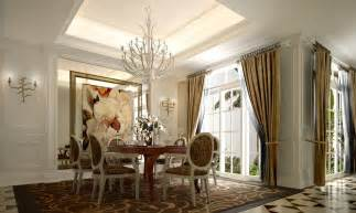 Neoclassical Style French Window Dining Room Neoclassical Style