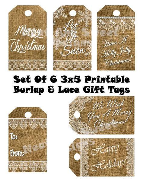 printable rustic christmas gift tags pinterest