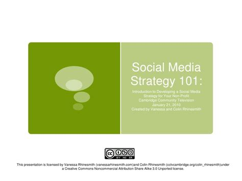 nonprofit social media strategy template introduction to developing a social media strategy for