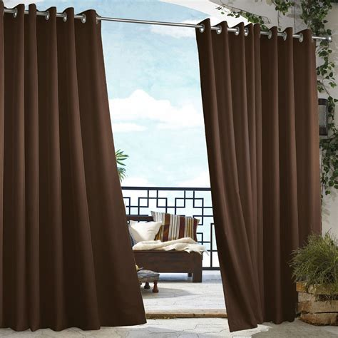 clearance outdoor curtains chocolate polyester gazeo curtains with grommets dfohome