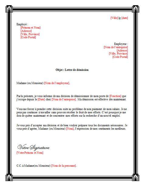 Exemple De Lettre Heures Supplémentaires Modele Lettre De Demission Avec Heures Recherche Emploi Document
