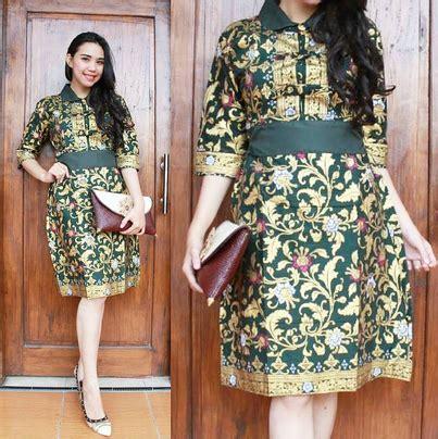 desain dress batik wanita model dress batik pesta www pixshark com images