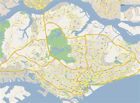 singapore on a map map of singapore expressways visakanv s singapore