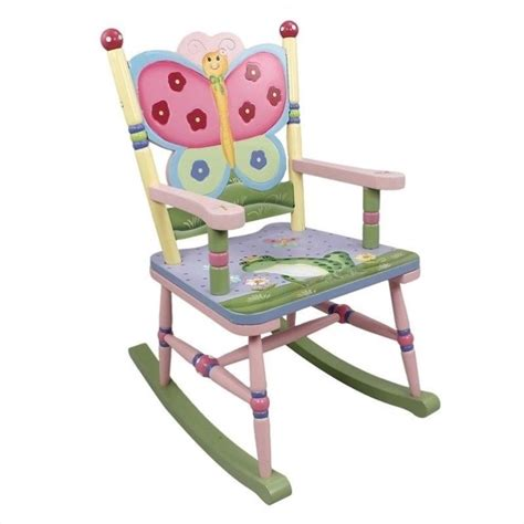 Kid Rocking Chairs by Fields Painted Magic Garden Rocking Chair W
