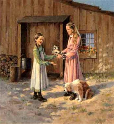 little house of dogs ingalls daughters with raccoon and dog little house on the prairie series by eugene