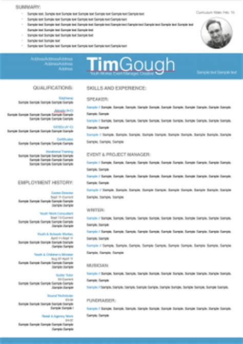 design and produce a high quality professional cv resume for 163 20 timgough fivesquid