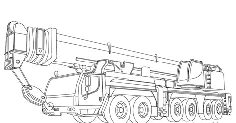 coloring page crane truck ichabod crane pages coloring pages