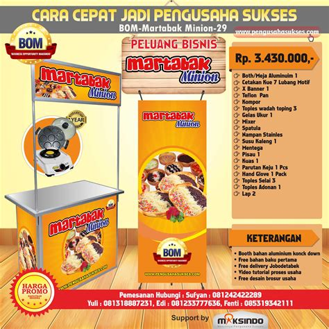 Paket Minion by Paket Usaha Martabak Minions Program Bom Agrowindo