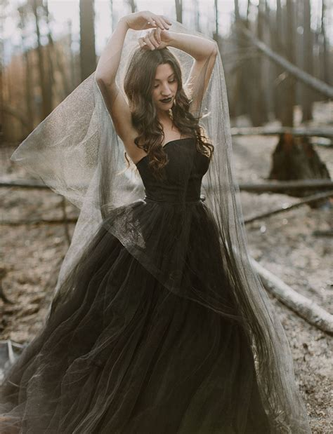 20 beautiful and bold black wedding dresses chic