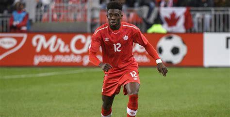 alphonso davies returns  vancouver  canadian mens