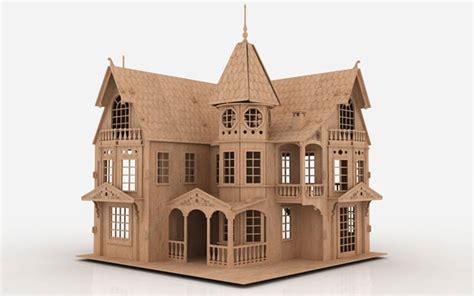 Fantasy Mansion Mansions Makecnc Com Laser Cut House Template