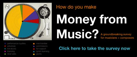 Music Surveys For Money - money from music survey future of music coalition