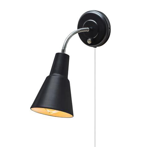 black wall sconce light globe electric ramezay 1 light matte black in or