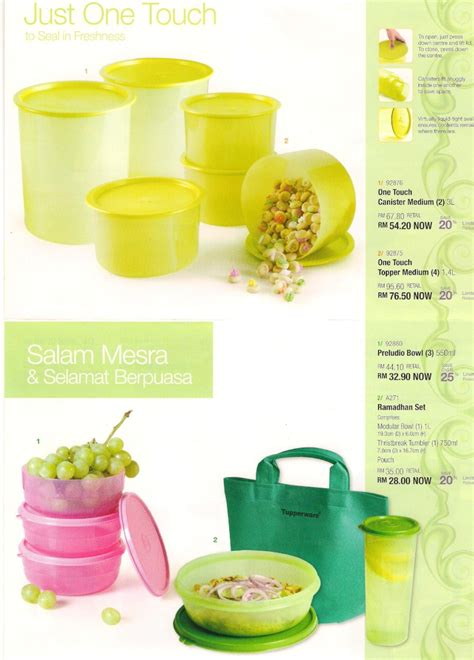 Tupperware Celebration Set tupperware leaflet mooncake festival ramadhan or raya celebration
