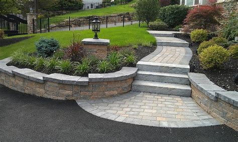 steps walkway and paver apron walkways driveways pinterest