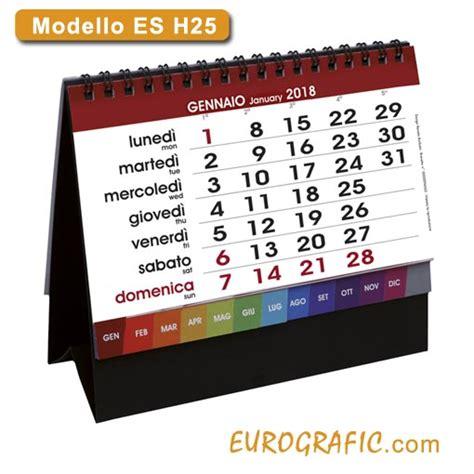 calendari da tavolo personalizzati calendari da tavolo e scrivania illustrati 2018 eurografic